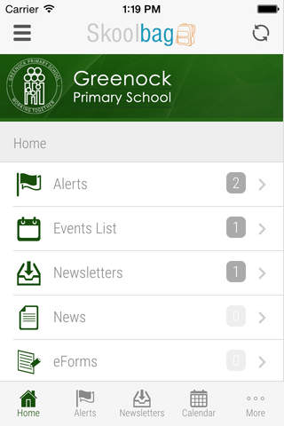 Greenock Primary School - Skoolbag - náhled