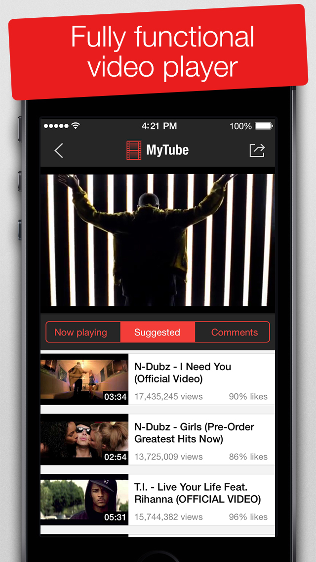 MyTube - Video Player for Youtube Clips, TV-shows and Movies Streaming screenshot 3