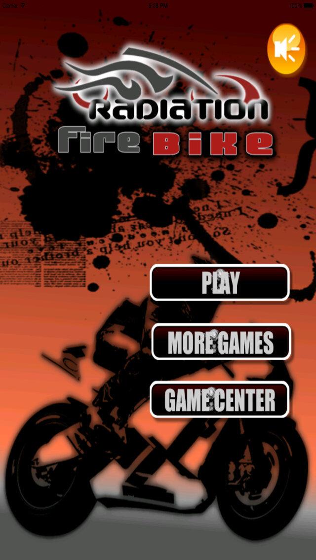 Radiation Fire Bike Pro - Furious One Touch Motorcycle Racing screenshot 1