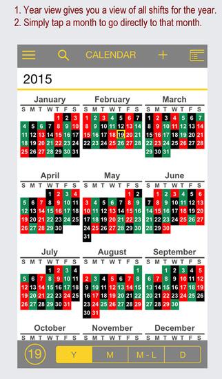 FireSync Shift Calendar screenshot 2