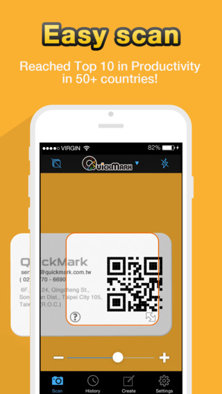 barcode scanner app for iphone qr code reader quickmark barcode scanner on the app 16611