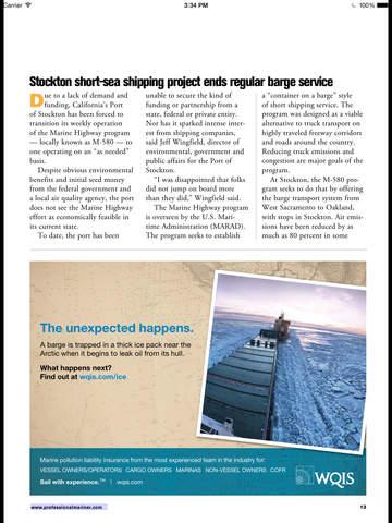 Professional Mariner Magazine screenshot 8
