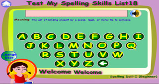 Spelling Doll1 Lite for Spelling Competitions screenshot 1