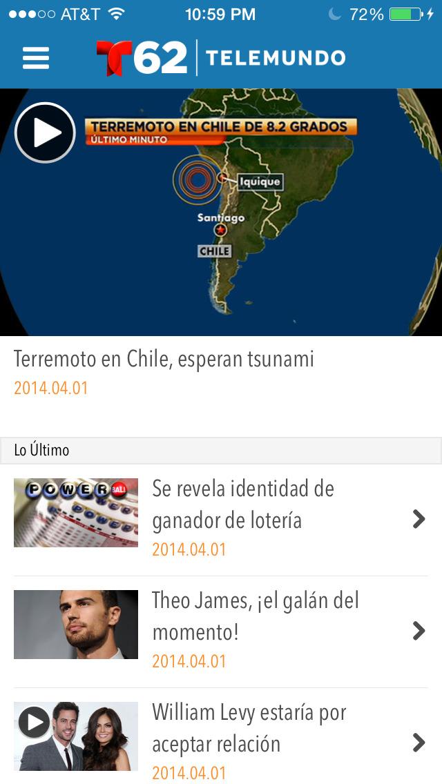 Telemundo62 screenshot 2