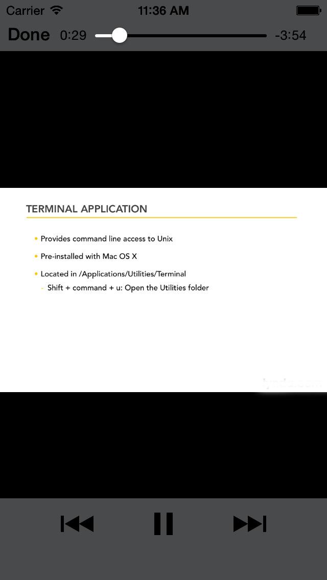 Unix Terminal screenshot 2