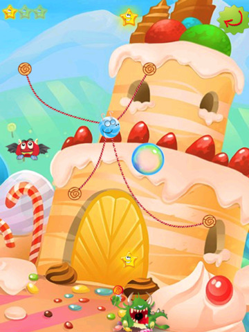 Rope Castle : The Monster Cut Candy screenshot 8