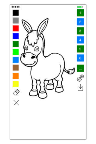 Horse Coloring Book For Kids - Learn to color and  - náhled
