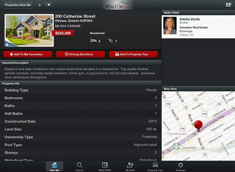 REALTOR.ca for iPad - náhled
