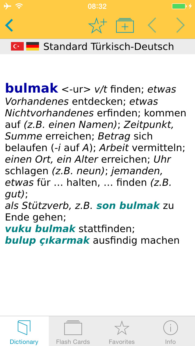 Big German Turkish Dictionary screenshot 5