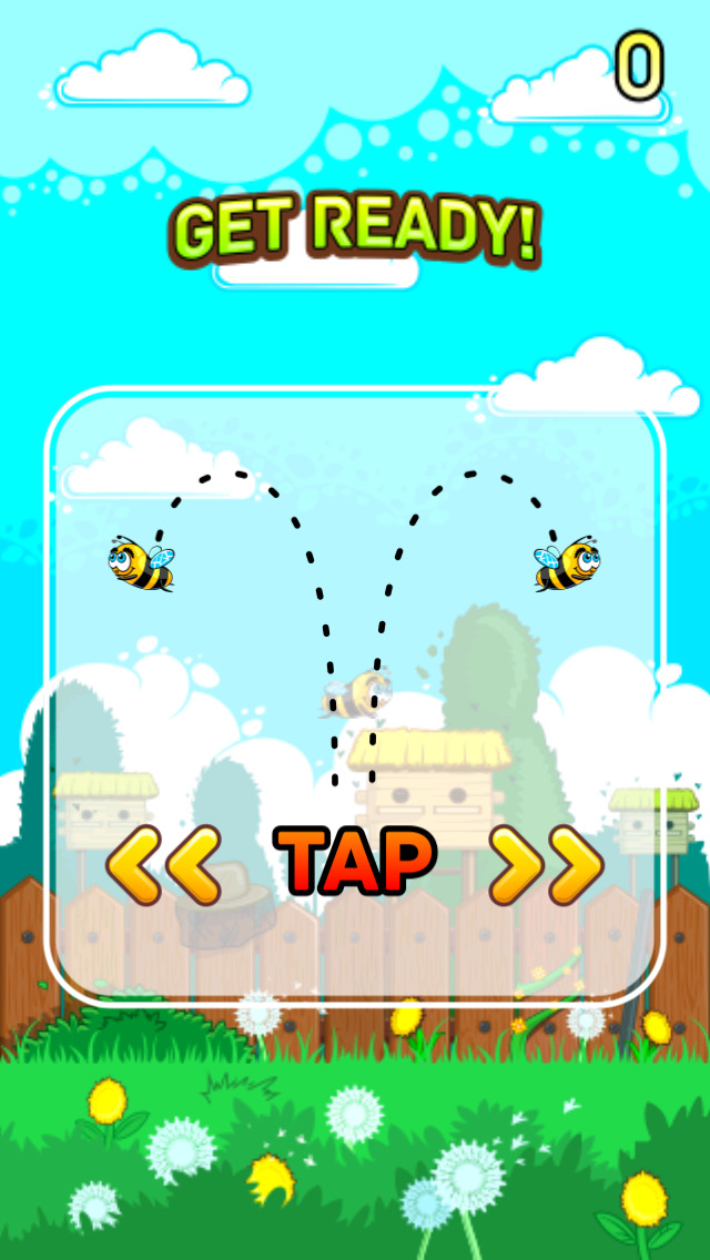 Flying Bee Bash screenshot 1