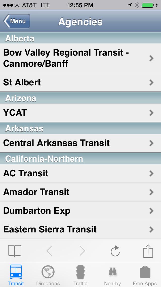 Next Bus Real Time Lite screenshot 1