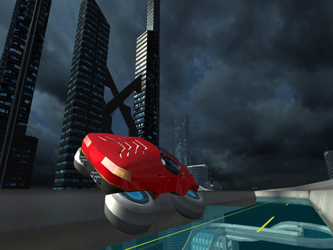 Hover Car Parking Simulator - Flying Hoverboard Car City Racing Game FREE screenshot 10