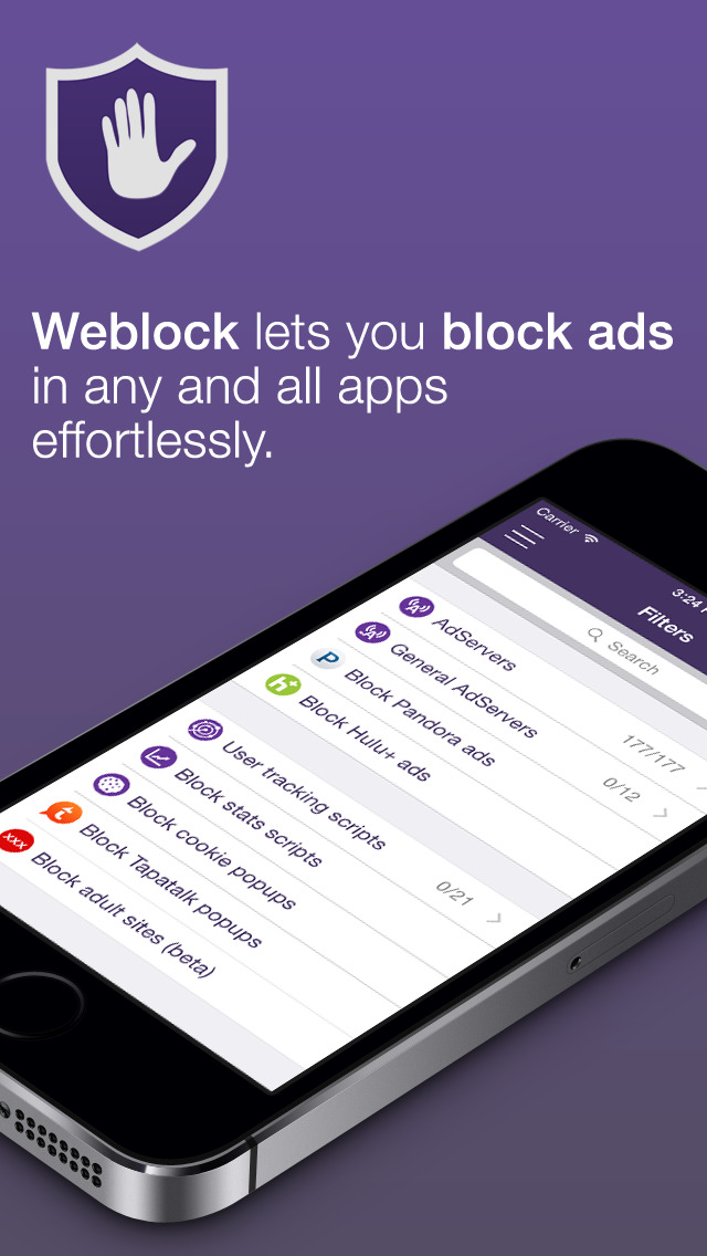Weblock: adblock & proxy screenshot 1