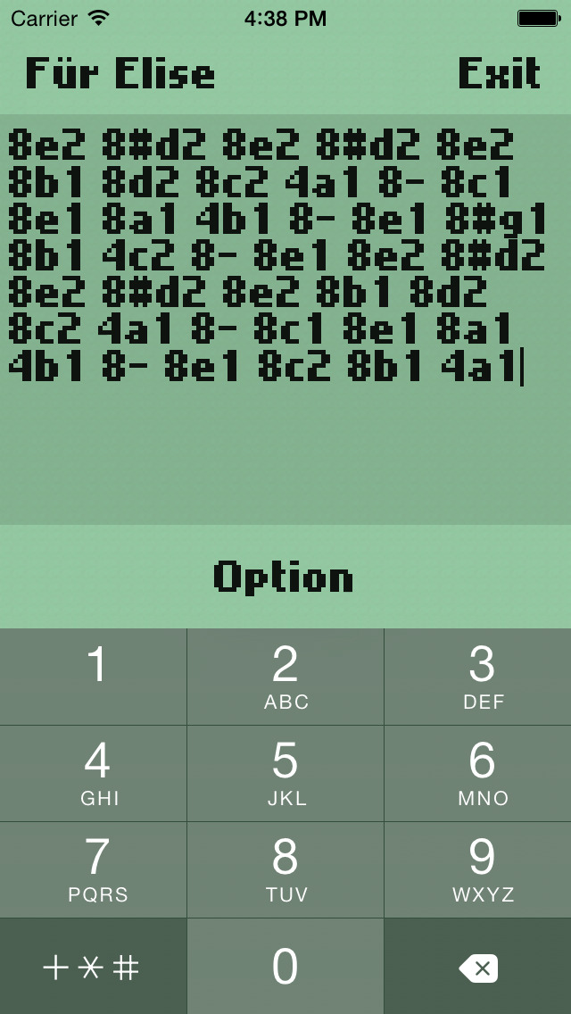 Composer monophonic ringtone oldstyle screenshot 2