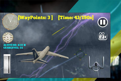 Airplane Flying Simulator 2015- Fly to the high sk - náhled