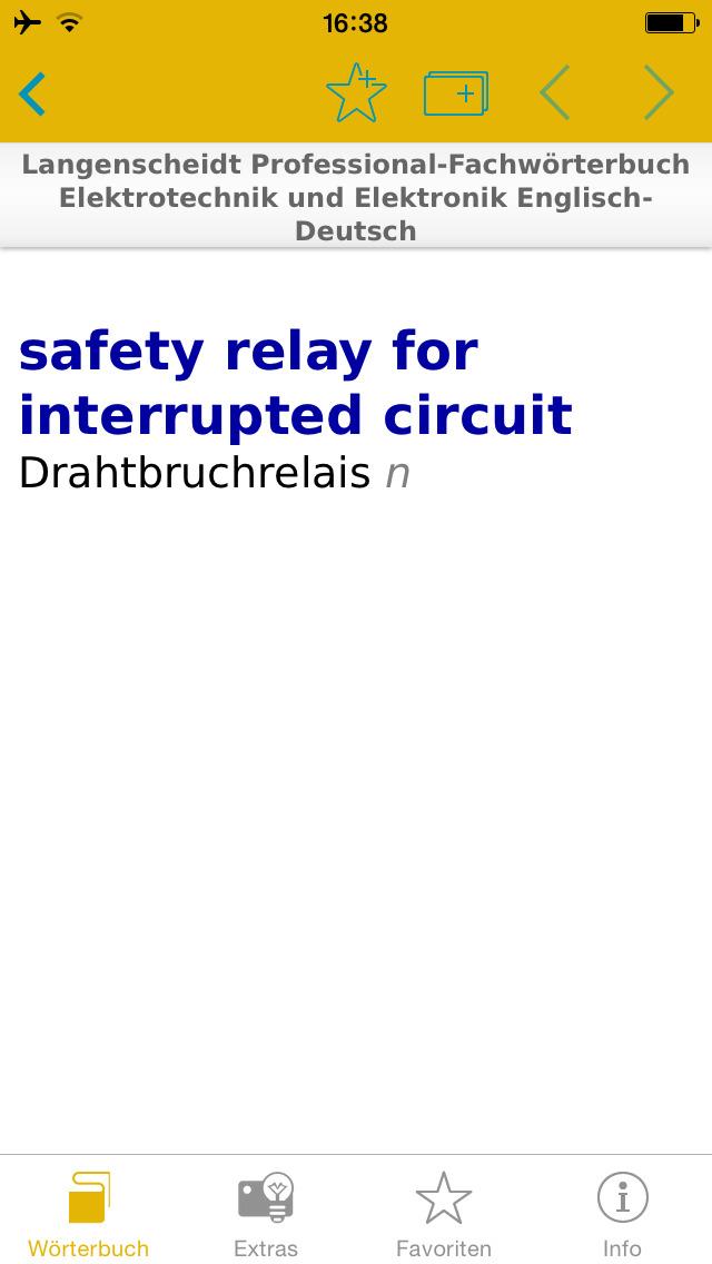 Elektrotechnik und Elektronik Englisch<->Deutsch Fachwörterbuch Professional screenshot 1