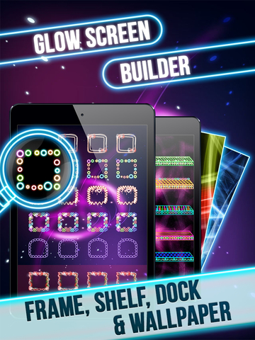 Glow Screen Wallpapers Maker-Icons, Shelves, Docks screenshot 6
