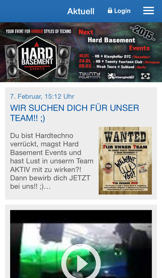 Hard Basement Events screenshot 1