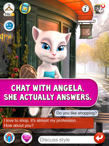 Talking Angela for iPad screenshot 1