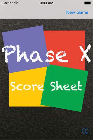 Phase 10 Wertungsblatt - náhled