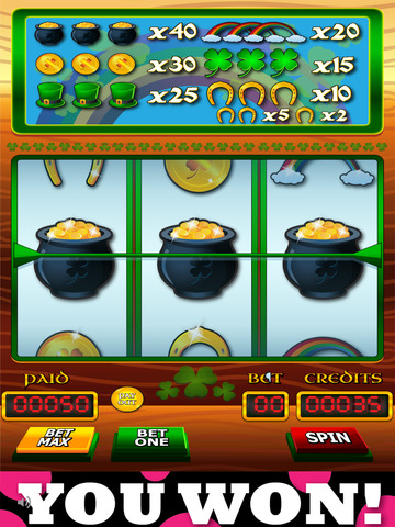 `Lucky Leprechaun Big Gold Jackpot Lotto 777 Casino Slots - Slot Machine with Blackjack and Prize Wheel screenshot 6