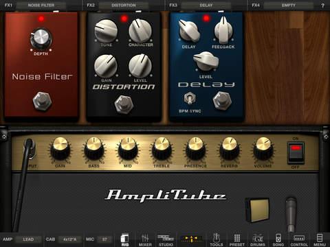 AmpliTube FREE for iPad screenshot 1