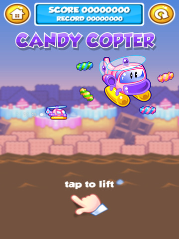Candy Copter - Flappy Swing Heli-copters Game screenshot 5