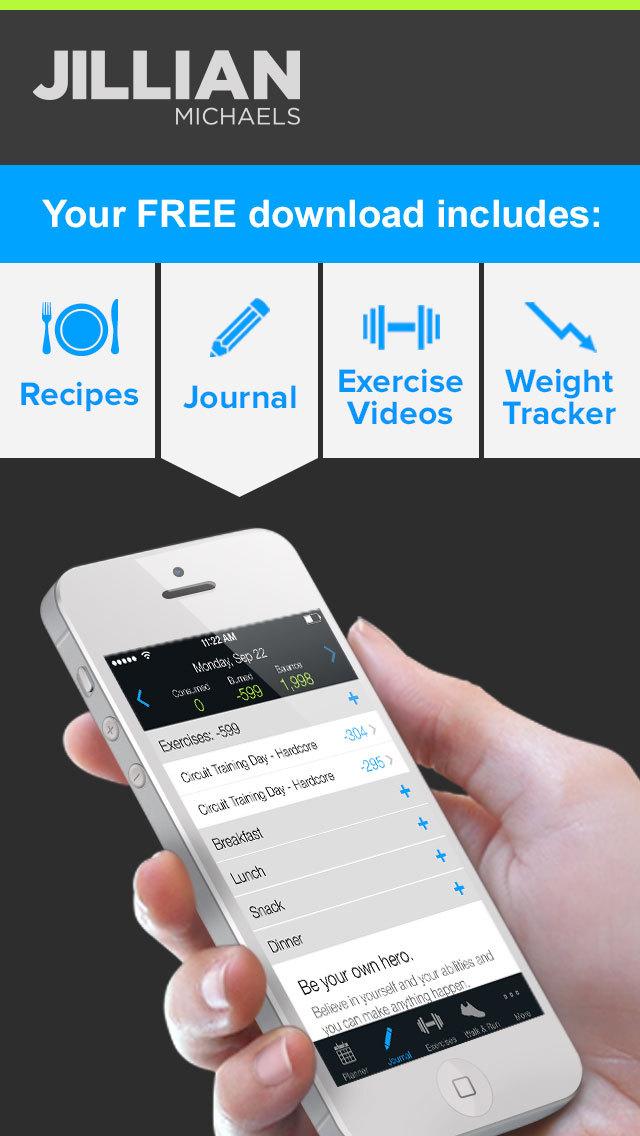 Jillian Michaels Slim-Down: Weight Loss, Diet, Fitness, Workout & Exercise Solution screenshot 3