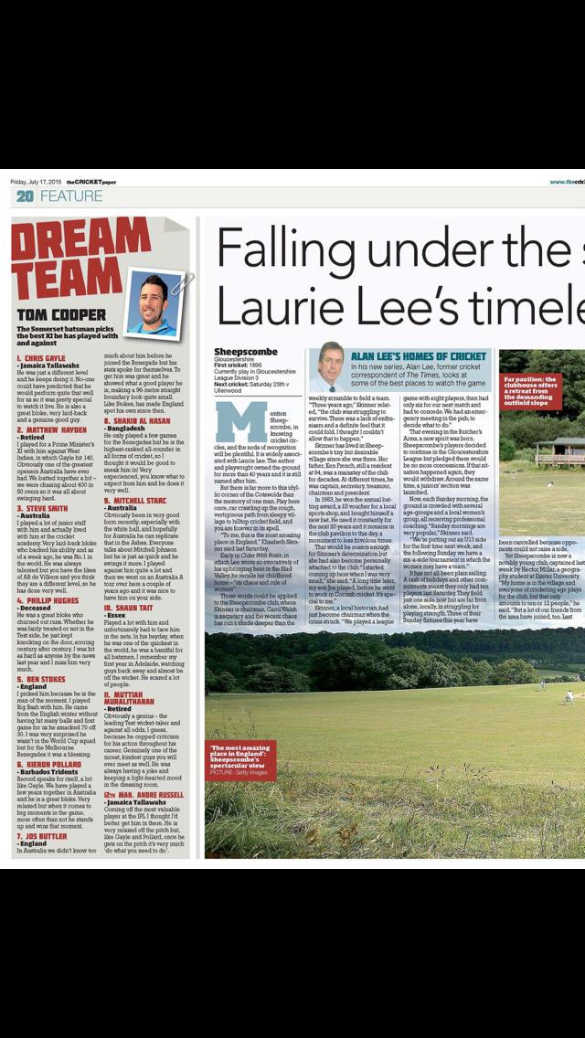 The Cricket Paper Magazine screenshot 4