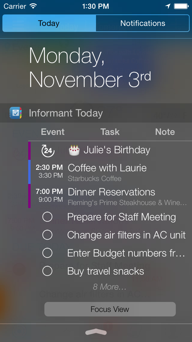 Informant - Agenda, Tasks, Notes Planner screenshot 2