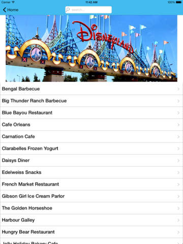 Restaurant Guide for Disneyland screenshot 9