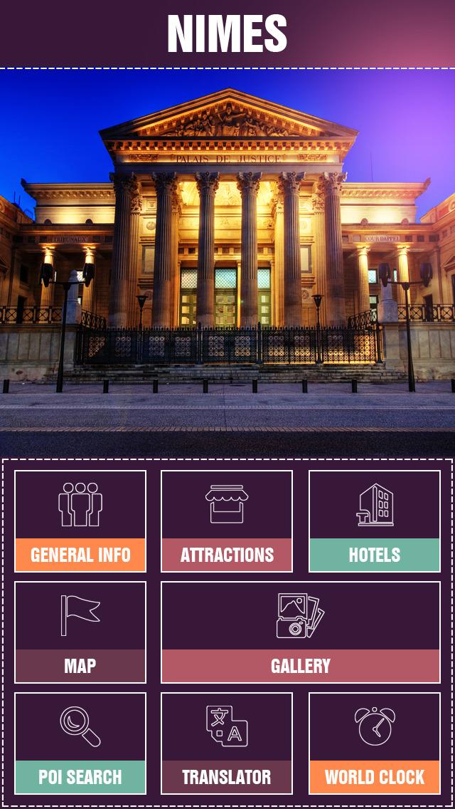 Nimes City Offline Travel Guide screenshot 2