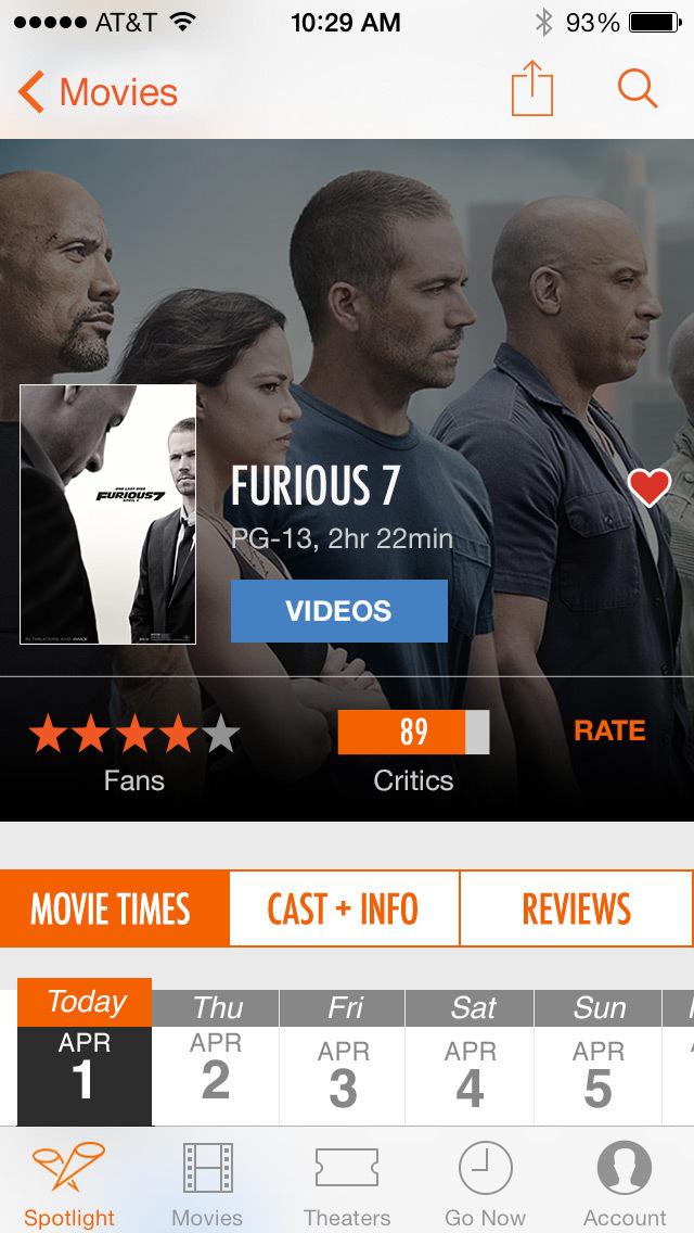 Fandango Movie Tickets & Times screenshot 2
