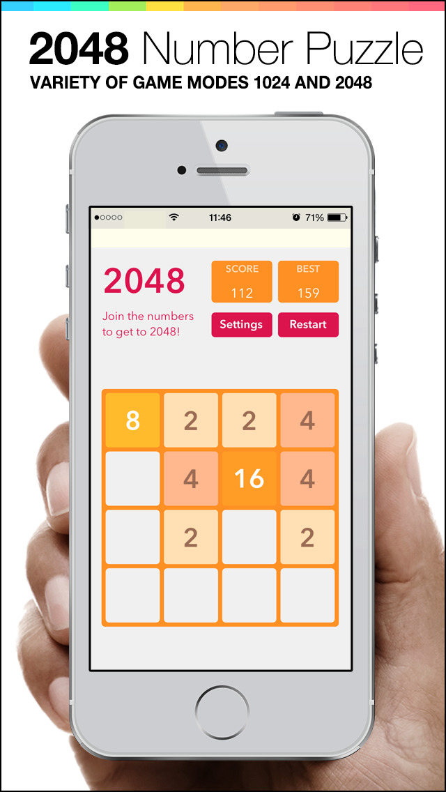 2048 Plus - Mobile Number Puzzle game screenshot 3