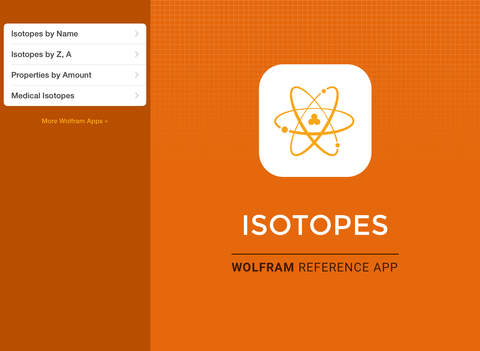 Wolfram Isotopes Reference App screenshot 6