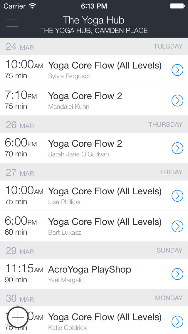 YogaHub screenshot 1
