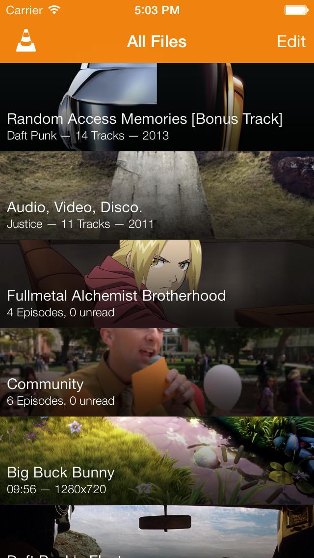VLC for Mobile screenshot 1