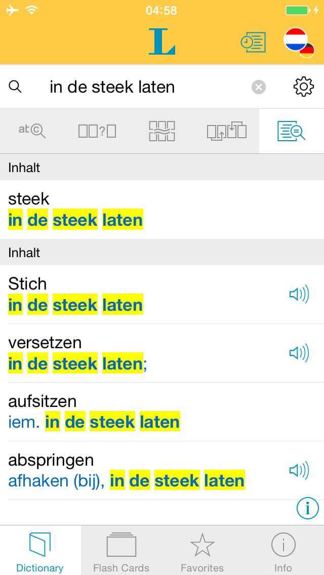 German - Dutch Dictionary screenshot 2