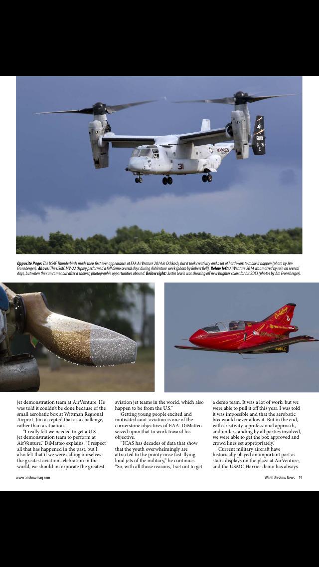 World Airshow News Magazine screenshot 3