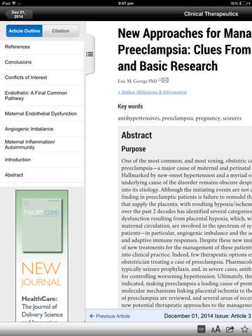 Clinical Therapeutics screenshot 8