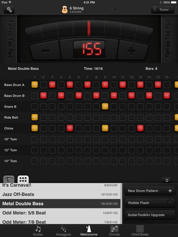 GuitarToolkit - tuner, metronome, chords & scales screenshot 9
