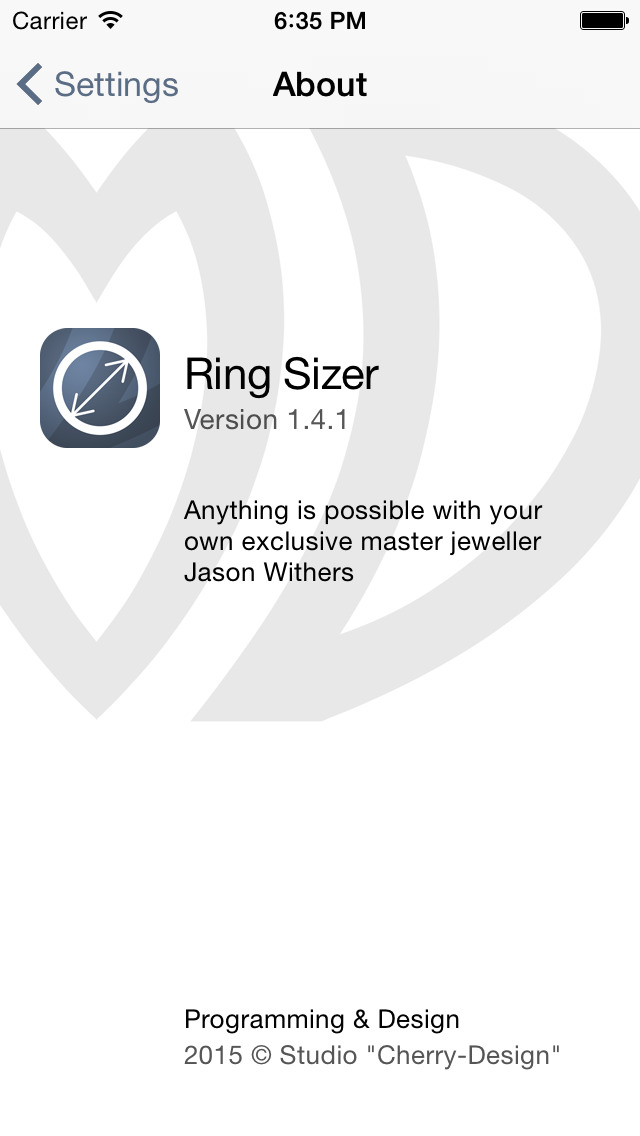 Ring Sizer by Jason Withers © screenshot 5