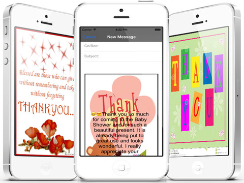 Thank You Cards Maker -  Customise and send Thank You eCards with beautiful pictures,photo editor,best quotes,voice recording and emoji (Lite) screenshot 10