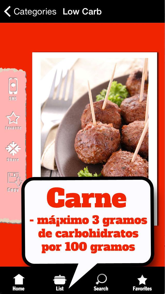 Dieta Low Carb - Lista: Alimentos con pocos carbohidratos screenshot 2