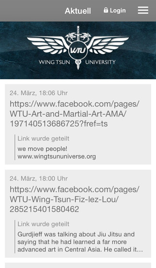 Wing Tsun University - WTU screenshot 1