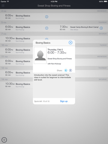 Sweat Shop Boxing & Fitness screenshot 6