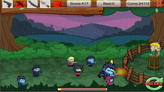 Tiny Zombies The Barricade Free screenshot 2