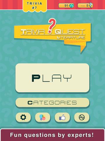 Trivia Quest™ Literatures - trivia questions screenshot 8