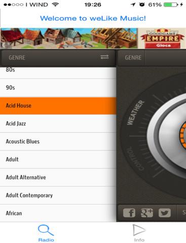 weLike music radio - free app not mp3 downloader - náhled