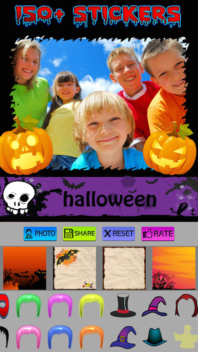 Halloween Photo Frames and Stickers screenshot 3